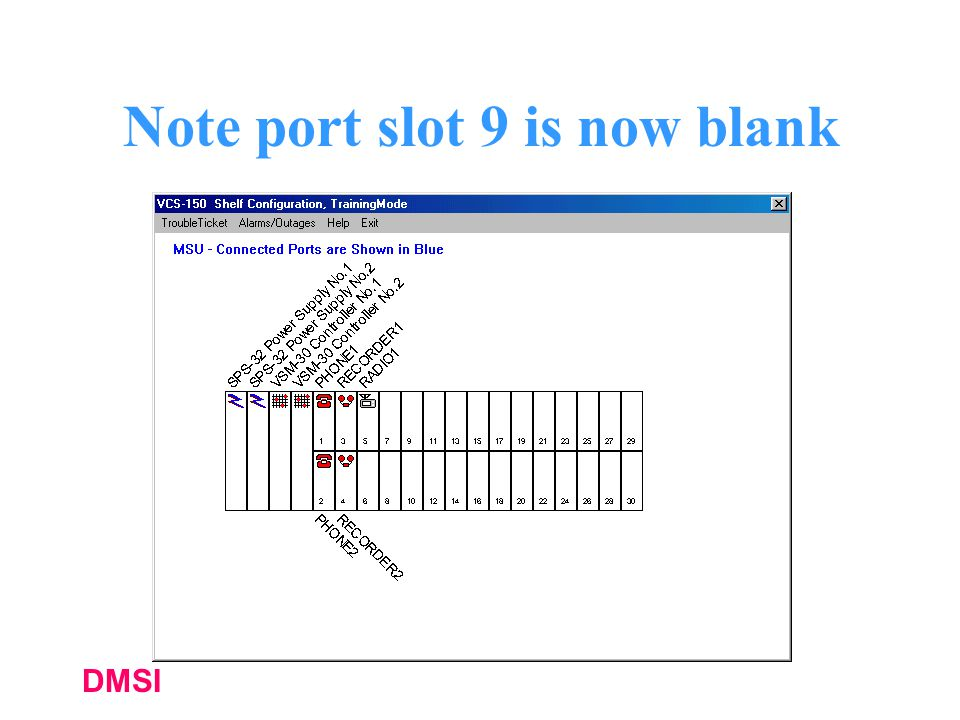 Note port slot 9 is now blank
