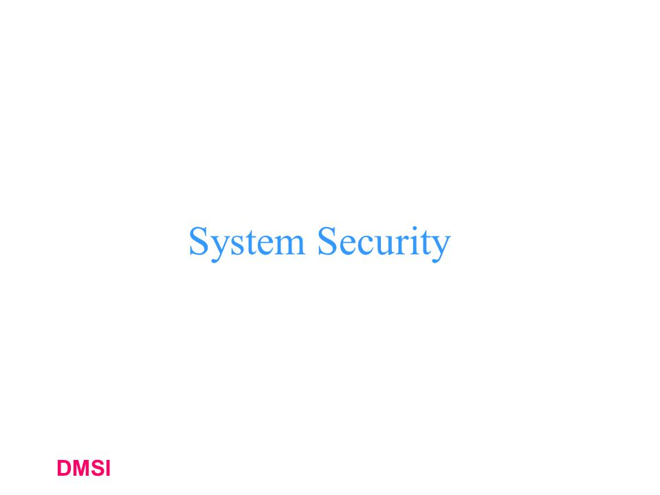 System Security DMSI