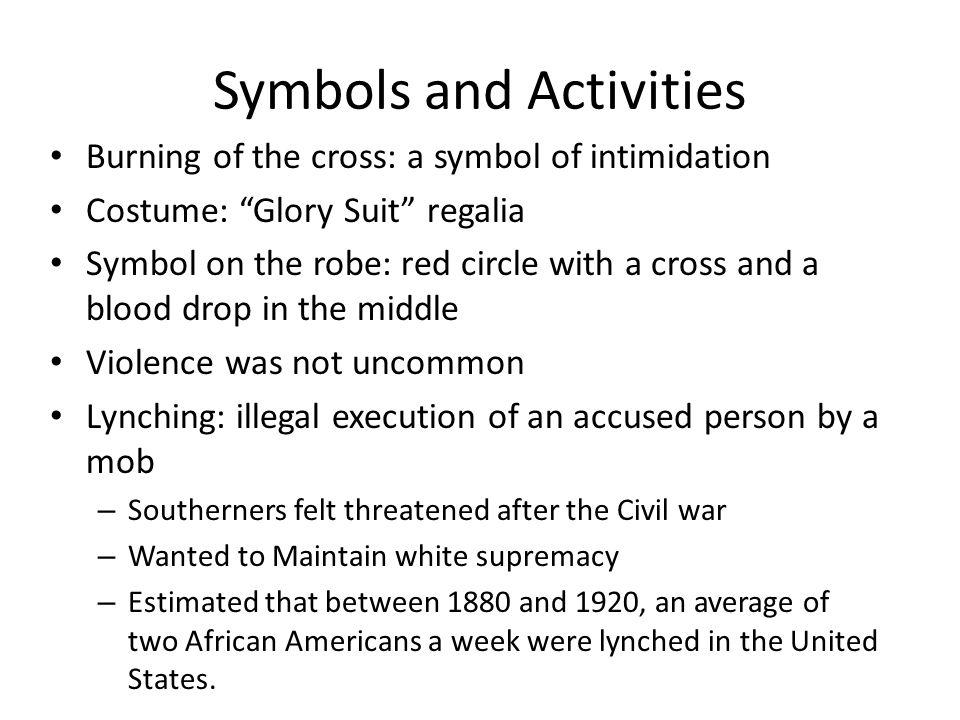 Symbols and Activities