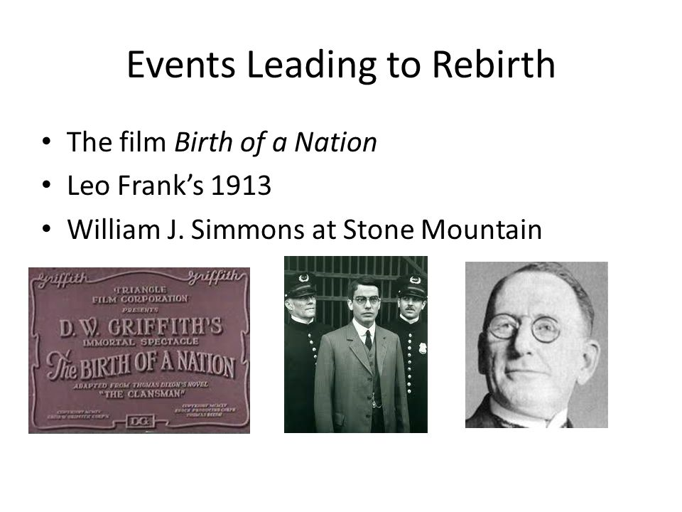 Events Leading to Rebirth