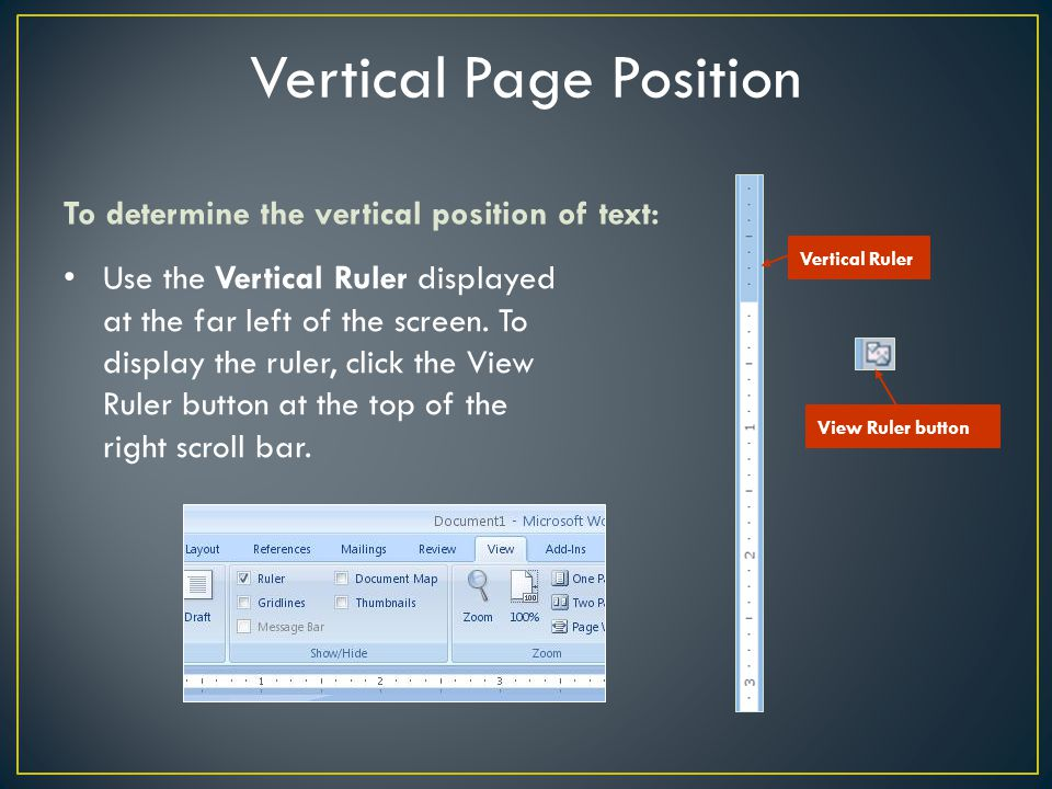 Vertical Page Position