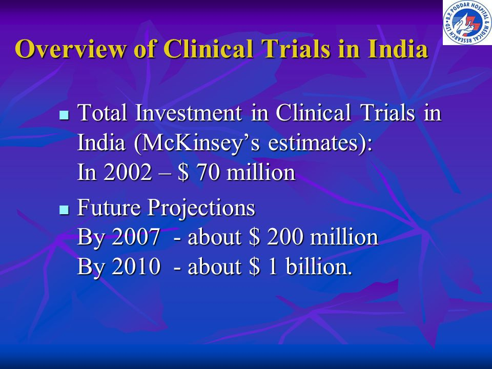 Overview of Clinical Trials in India