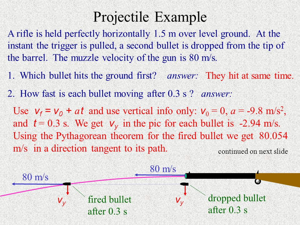 Projectile Example