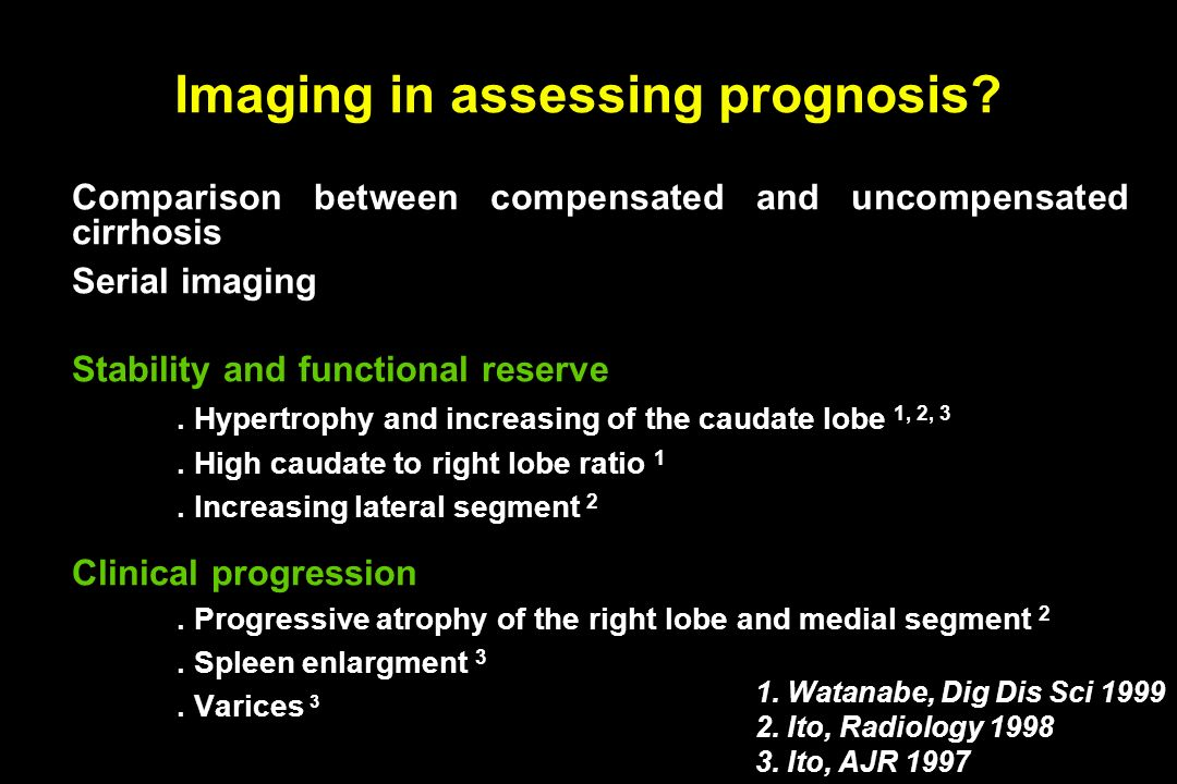 Imaging in assessing prognosis