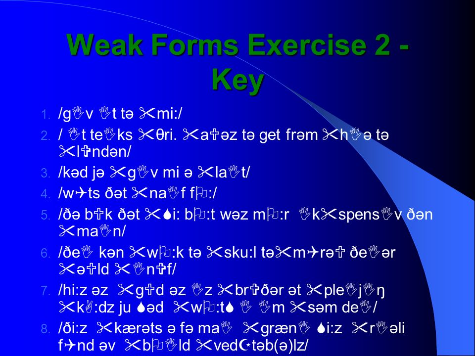 Weak Forms Exercise 2 - Key
