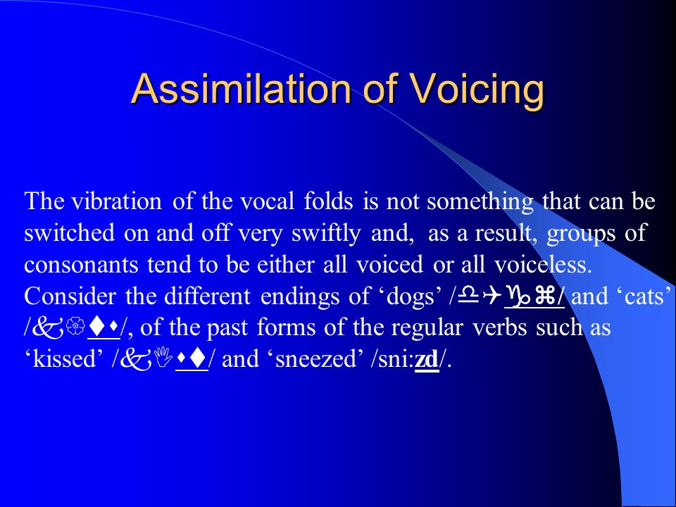Assimilation of Voicing