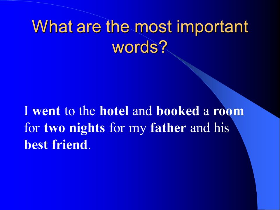 What are the most important words