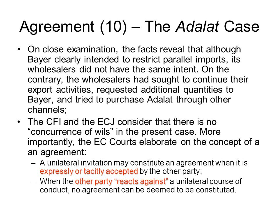 Agreement (10) – The Adalat Case