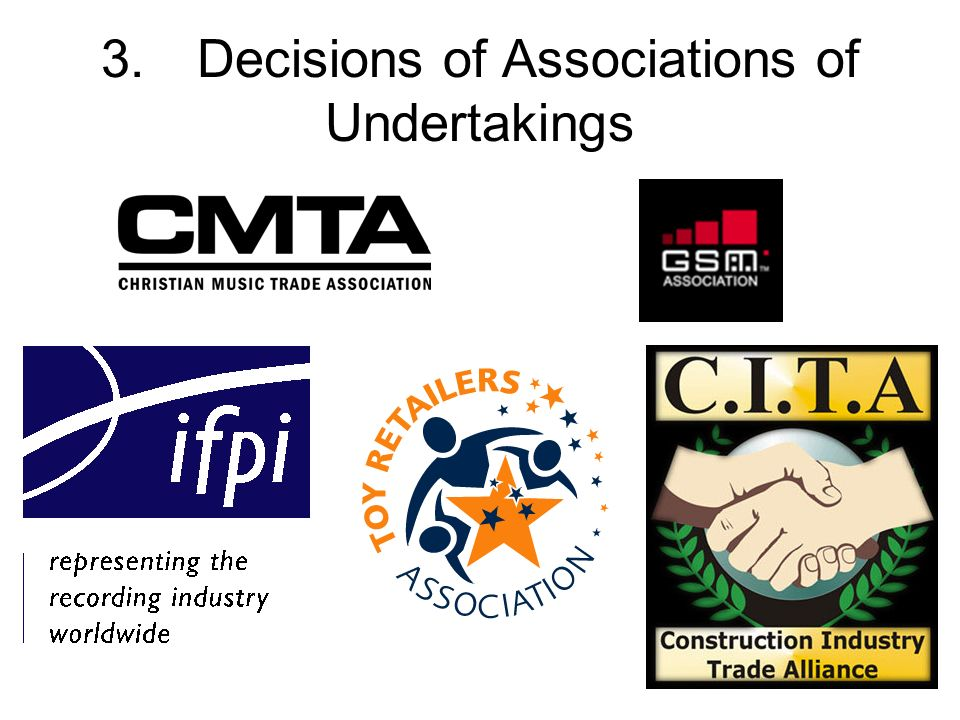 3. Decisions of Associations of Undertakings