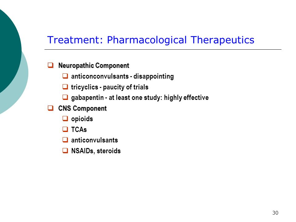 Treatment: Pharmacological Therapeutics
