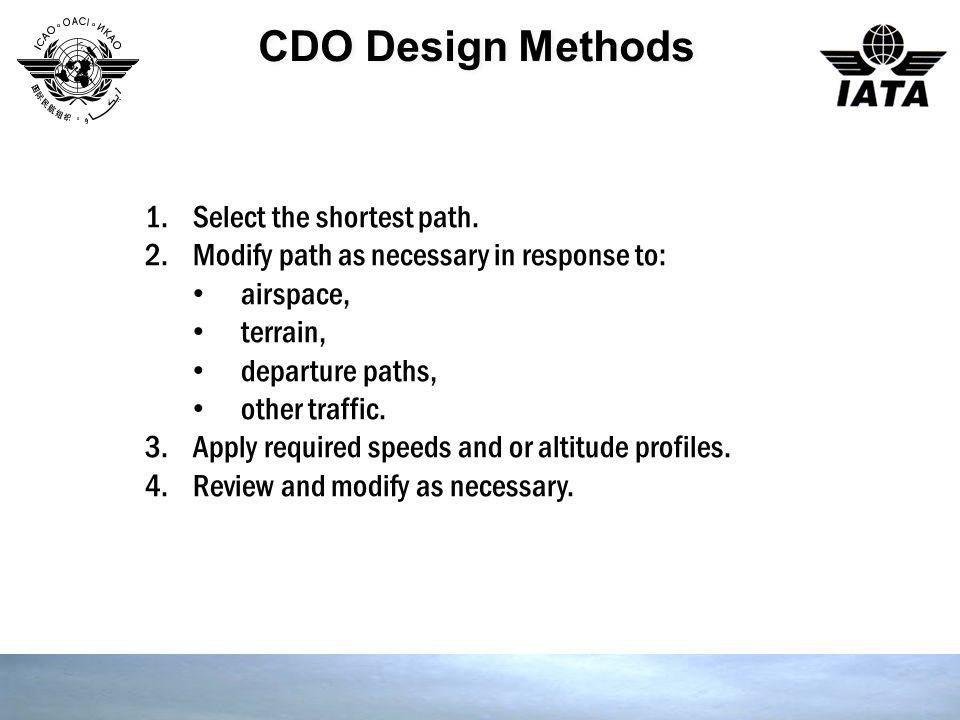 CDO Design Methods Select the shortest path.
