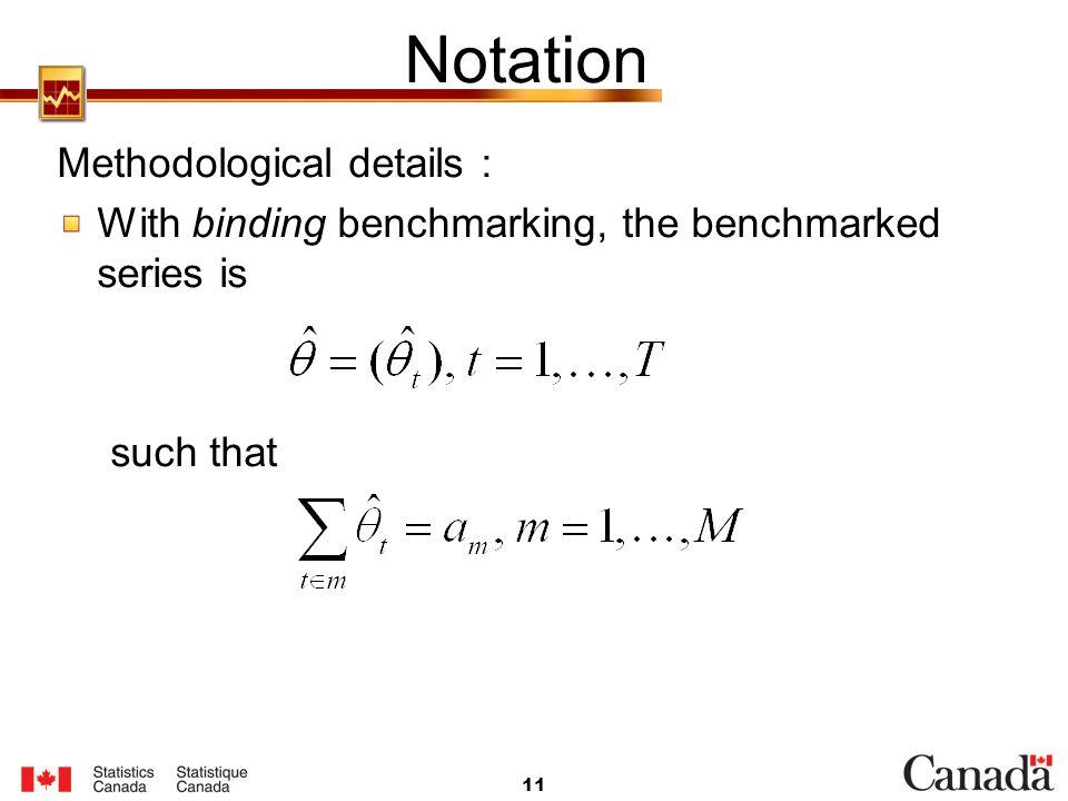 Notation Methodological details :