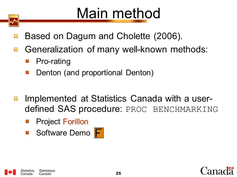 Main method Based on Dagum and Cholette (2006).