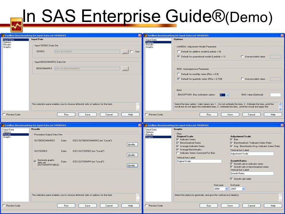 In SAS Enterprise Guide®(Demo)