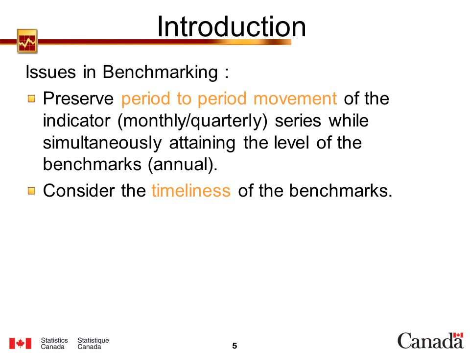 Introduction Issues in Benchmarking :
