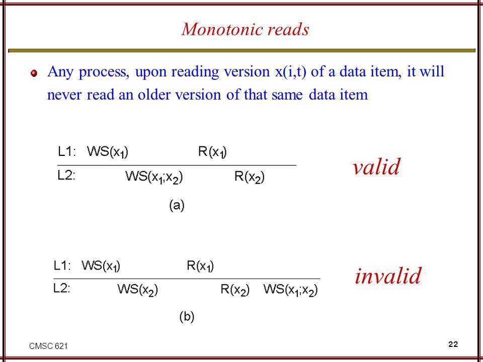 valid invalid Monotonic reads