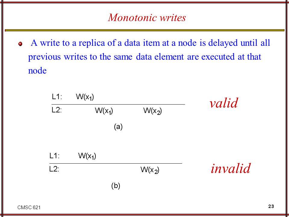 valid invalid Monotonic writes