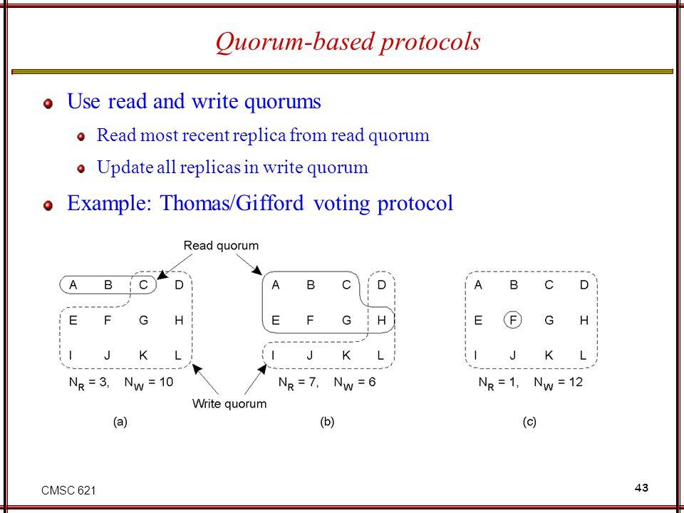 Quorum-based protocols