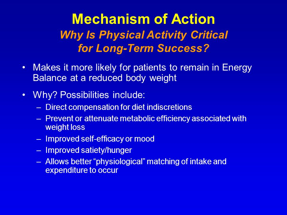 Why Is Physical Activity Critical