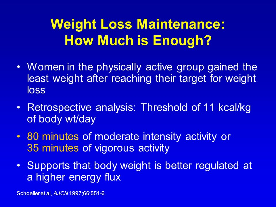 Weight Loss Maintenance: How Much is Enough