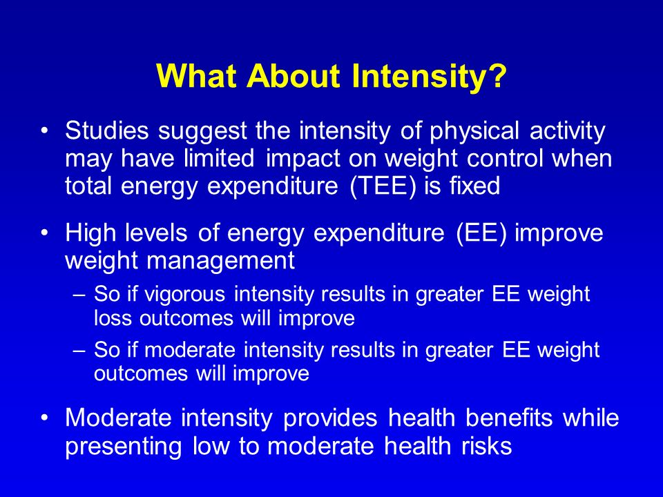 What About Intensity