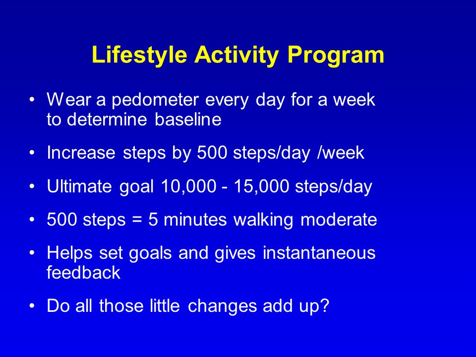Lifestyle Activity Program