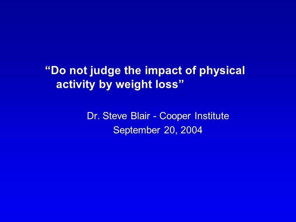 Dr. Steve Blair - Cooper Institute