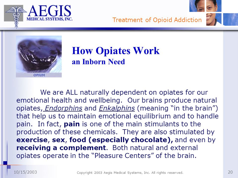 How Opiates Work an Inborn Need