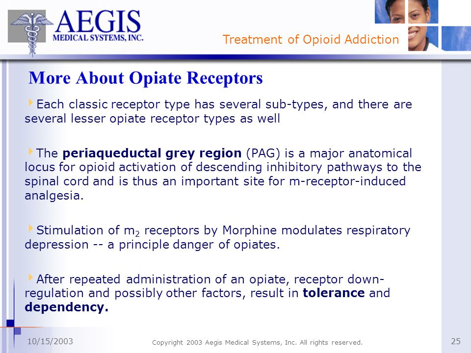 More About Opiate Receptors