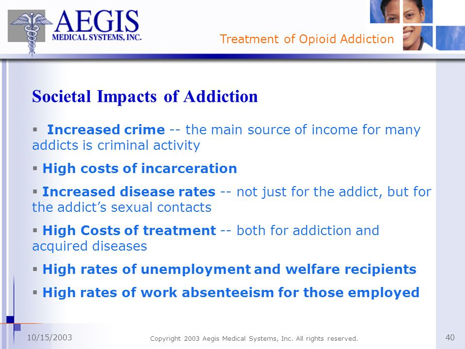 Societal Impacts of Addiction
