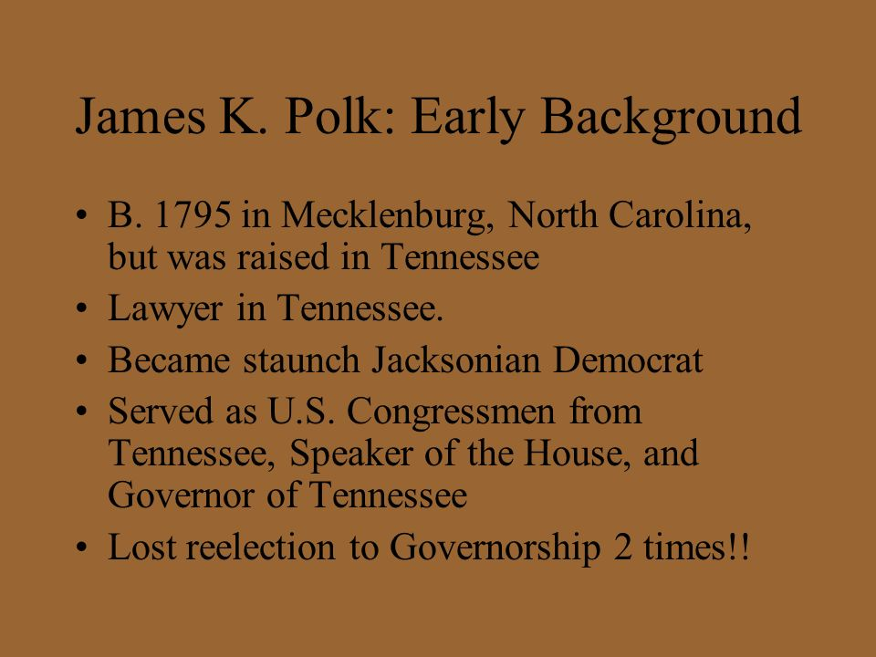 James K. Polk: Early Background