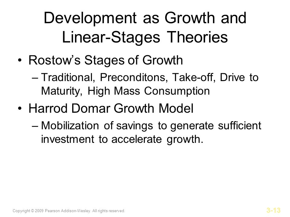 Development as Growth and Linear-Stages Theories