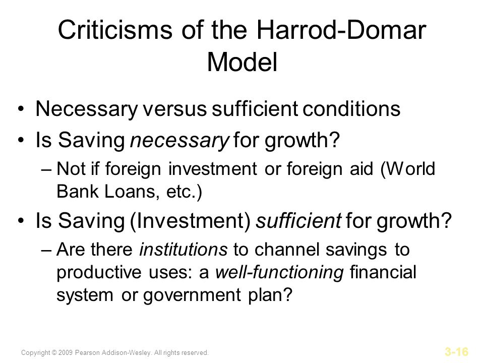 Criticisms of the Harrod-Domar Model