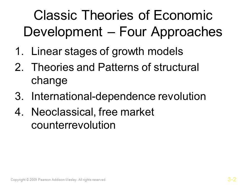 Classic Theories of Economic Development – Four Approaches