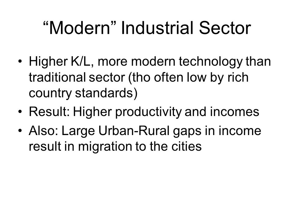 Modern Industrial Sector