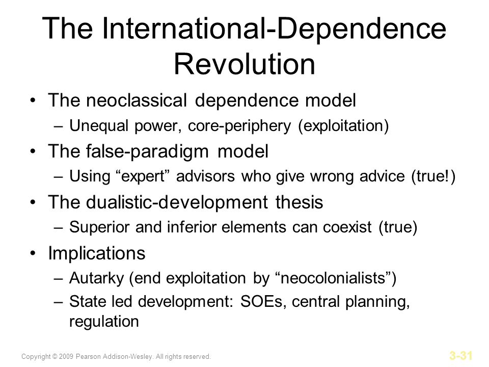 The International-Dependence Revolution