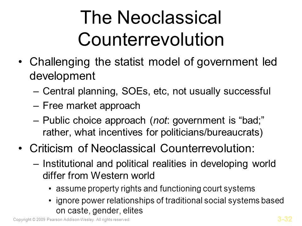 The Neoclassical Counterrevolution