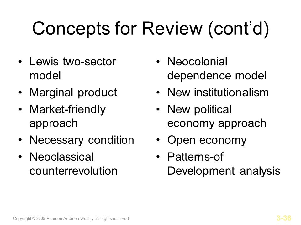 Concepts for Review (cont'd)