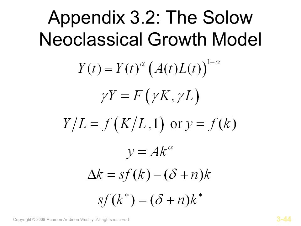 Appendix 3.2: The Solow Neoclassical Growth Model