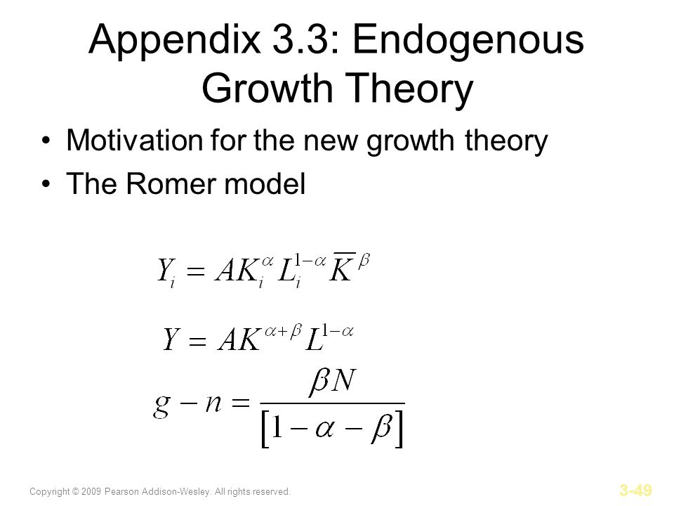 Appendix 3.3: Endogenous Growth Theory