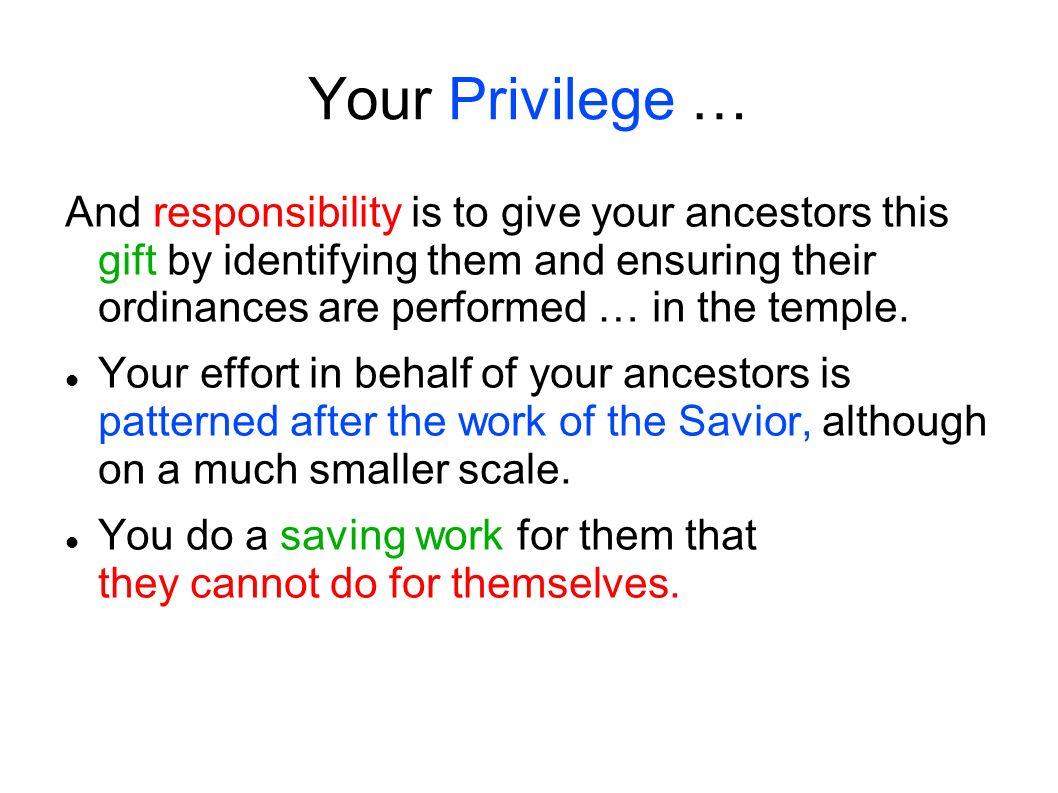 Your Privilege …