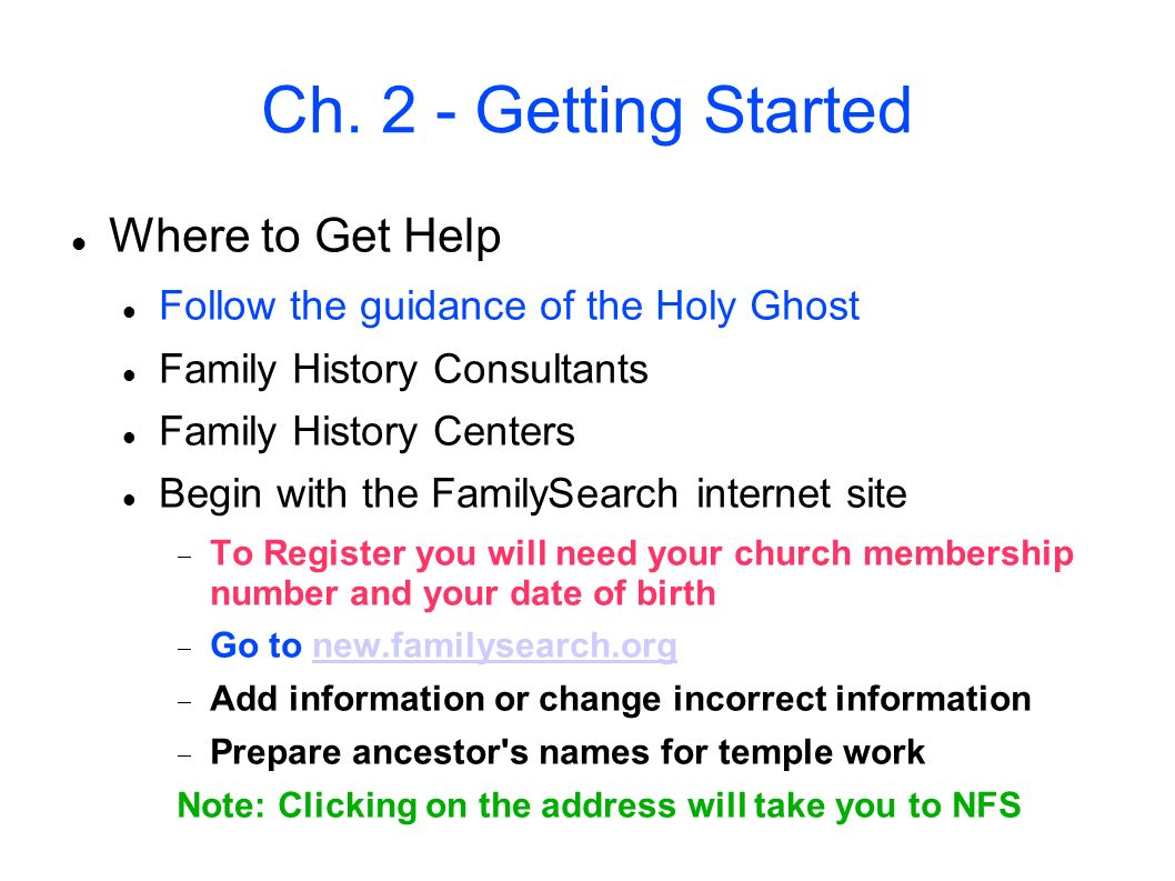 Ch. 2 - Getting Started Where to Get Help
