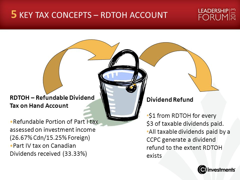 5 KEY TAX CONCEPTS – RDTOH ACCOUNT