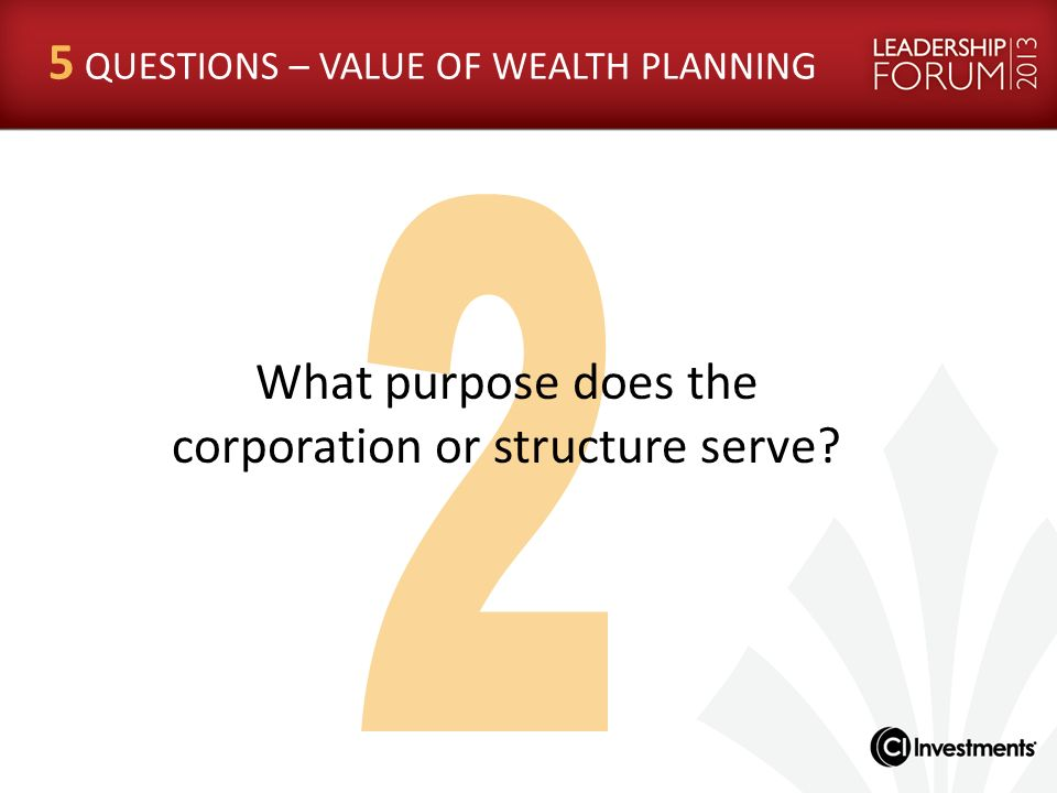What purpose does the corporation or structure serve