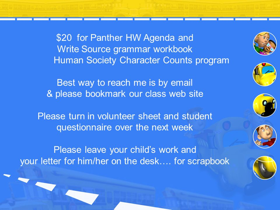 Best way to reach me is by email & please bookmark our class web site