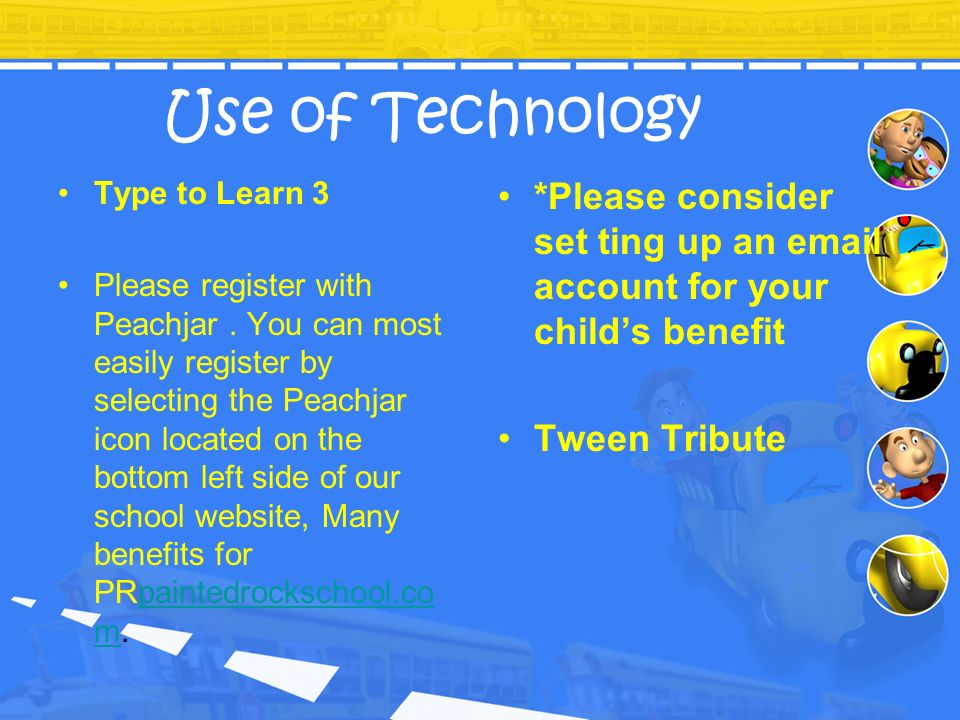 Use of TechnologyType to Learn 3.
