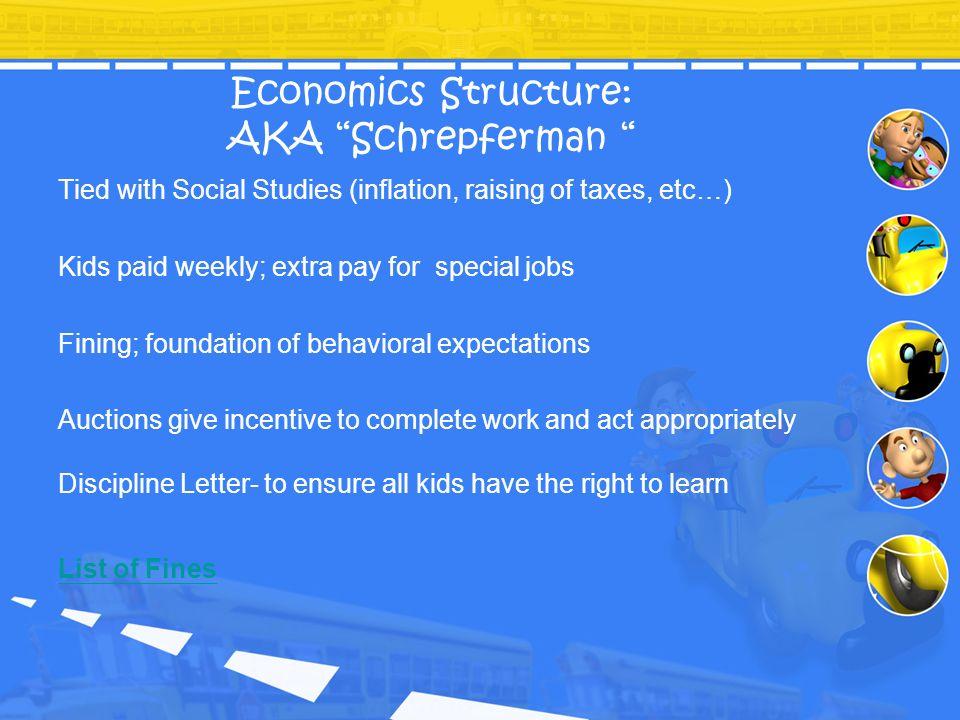 Economics Structure: AKA Schrepferman