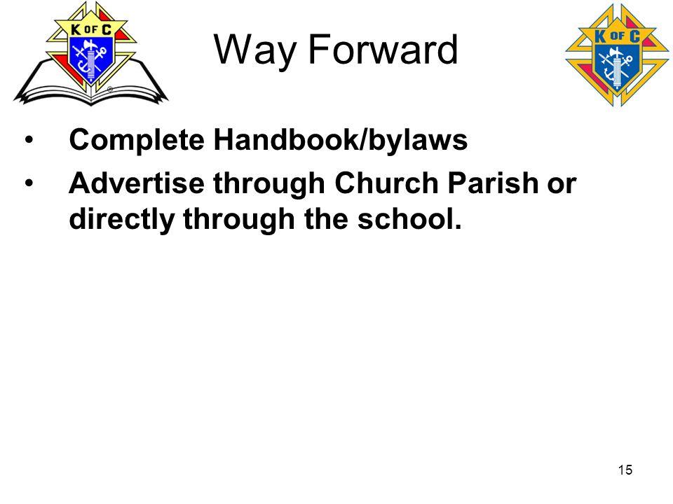 Way Forward Complete Handbook/bylaws