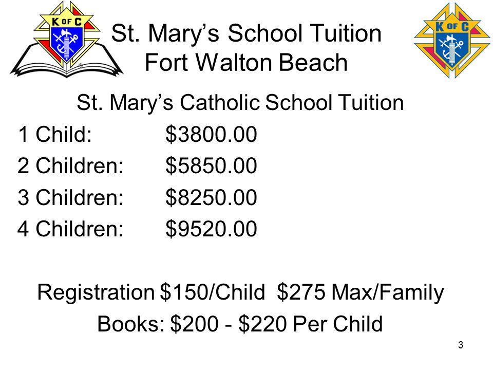 St. Mary's School Tuition Fort Walton Beach