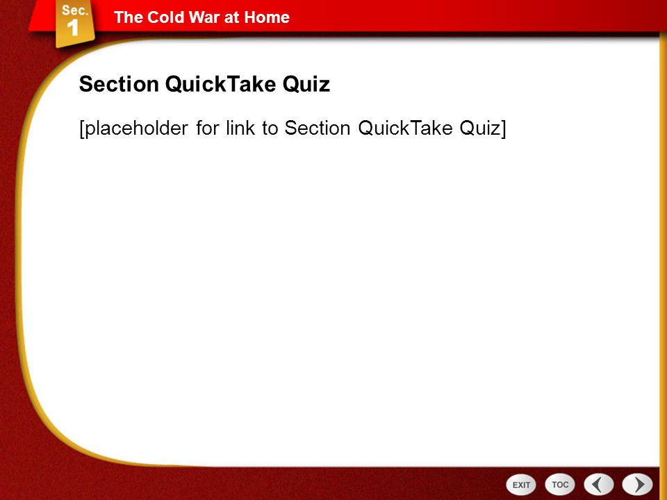 Section QuickTake Quiz
